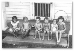 Summer 1946. Joyce Ann Sharp, Vernon Anderson, Bill Sharp, Wray 'Skippy' Morse, Rela Anderson & Diana Fiddler