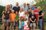 In this photo: Abby White, Amy Price White, Stewart White, Andy White, John White, Rosey White, Jennifer Cantrell White,