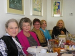 Ladies Lunch February 2010:  Mary Doris Warren Simonson, Phyllis Bennett Samaha, Sharon Taylor Erichsen, Ruby Waid King,