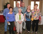 Back Row:  Bill Early, Leo Choron, Art Hufford.  Front Row: Lily Early, Delores Choron, Judy Jernigan, Ronda Sullivan Wi