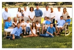 Family of Wade Sims & Lynda Zirkelbach Sims.  July 2008.  Four children with spouses and thirteen grandchildren.