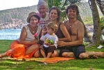 Julie (Ann), Doug Lea, Jasper Zachary, Anna Keene, and oldest son, Ben Forgey, on the beach at Bequia, May 2009.