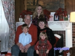 Grandpa & Grandma Batchelor (Ann Hudson) with their younger grandchildren Christmas 2009