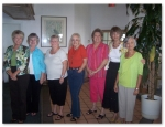 Gals of PHS 1960 at their September '09 luncheon..... l to r: Sheila Phillips, Carol Sue Weaver, Sally Booker, Barbara