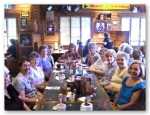 Lunch at Famous Dave's, July 2010. Left to right: Ann Smart, Sharon Taylor Erichsen, Phyllis Bennett Samaha, Johnie Col