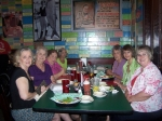 August 2010 at Wentzel's - l to r:  Judy Jernigan, Janie Horne Sanchez, Mary Moffett Hufford, Carolyn Reeves Woitas, Ma